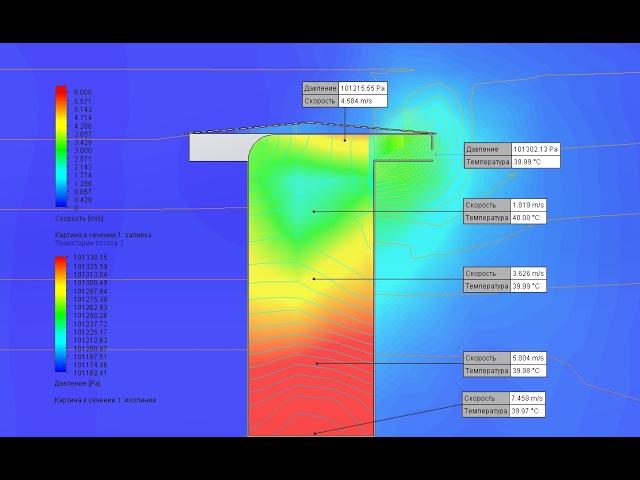 Вентиляция участка травления. CFD-моделирование бортовых отсосов.