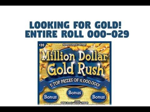 $20 Million Dollar Gold Rush - FULL Book - PA Lottery - Scratchers