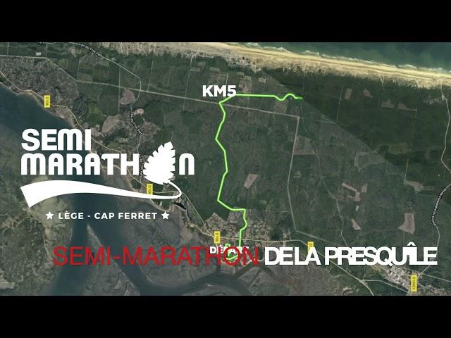 Semi-marathon de la presqu'île du Cap Ferret - 21 novembre 2021 - Le parcours