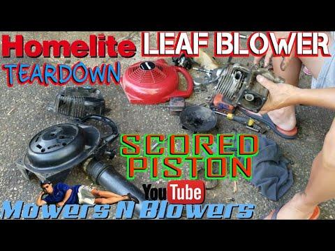 Free Homelite 25cc Yard Broom Gas Leaf Blower Trash Pick Scored