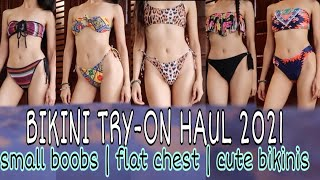 BIKINI TRY-ON HAUL 2021👙(feel confident with small breast) | Donna Lalabs