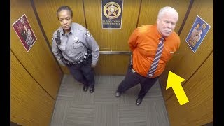 This Cop Thought They Were Alone In Elevator, Doesn't Know Hidden Camera Is Recording His Every Move
