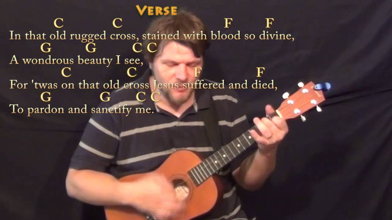 The Old Rugged Cross Bariuke Cover Lesson In C With Chordslyrics