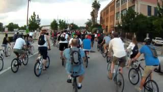 Critical Mass Houston May 2012 - Upright Bikes