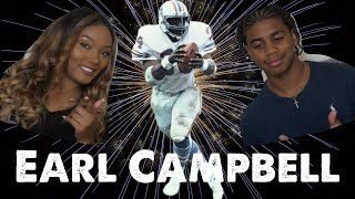 NFL Fan Allure Vision & Langston Reacts To NFL Running Back Earl Campbell Highlights