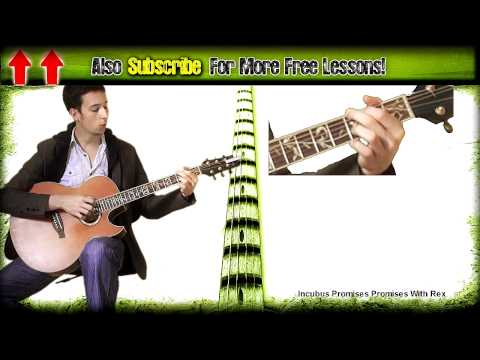 Guitar Lesson Incubus Promises Promises Chords & Lead