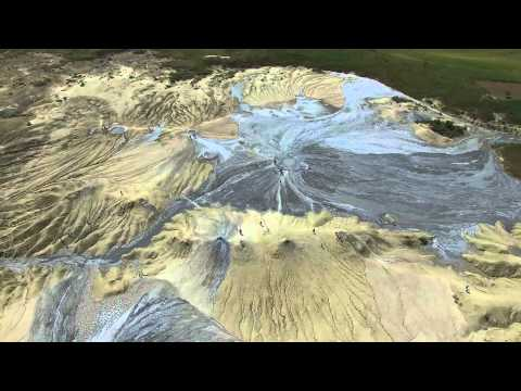 Buzău Muddy Volcanoes / Vulcanii Noroioși - Aerial Video