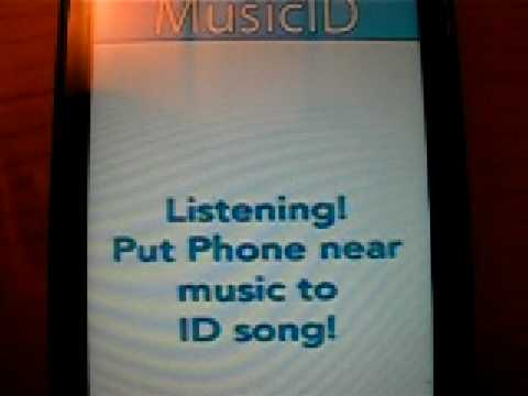 HTC Touch HD and Music ID software