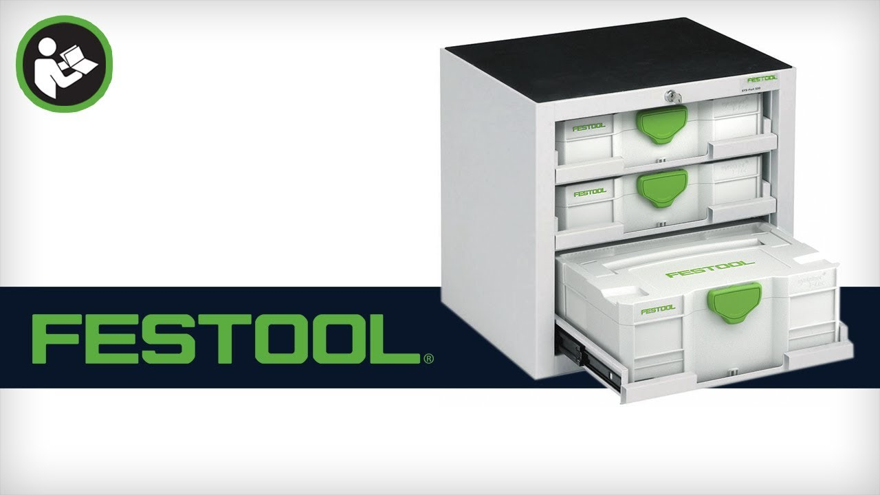 Festool SYS-Port 500 Systainer Cabinet (491921) - YouTube