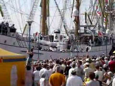 The sailing ship Cuauhtemoc from Mexico in Szczecin