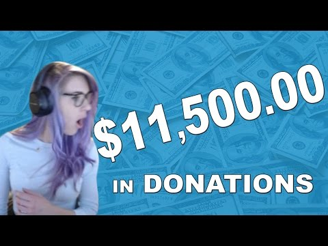 11.5K ! $11500 in Donations