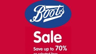 BOOTS 70% OFF SALE HAUL | AMBER HOWE