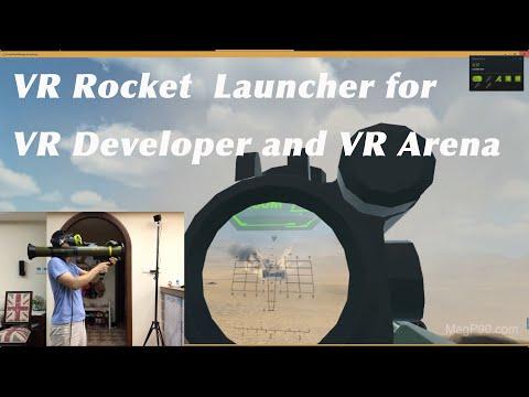 RPG VR Gun Stock Mag P90 for VR developer  Vive pro 2.0  Index Valve  Pimax 5K 8K