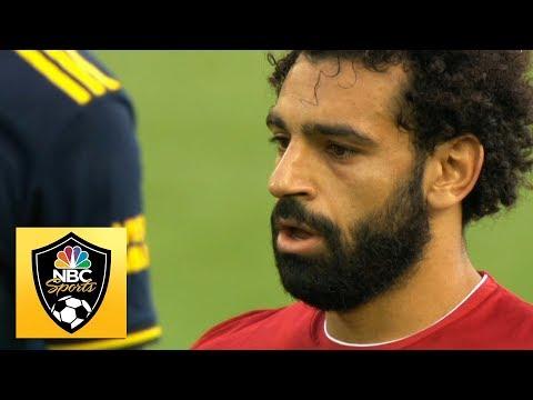 Mohamed Salah wins, scores penalty to make it 2-0 v. Arsenal | Premier League | NBC Sports