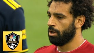 Mohamed Salah wins, scores penalty to make it 2-0 v. Arsenal | Premier League | NBC Sports