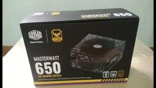 แกะกล่อง PSU COOLERMASTER MasterWatt TUF Gaming 650W