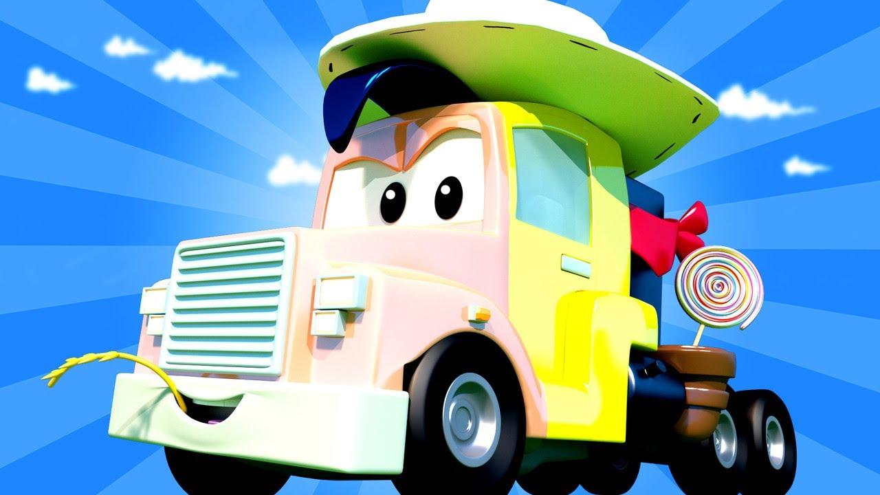 những chiếc xe tải dành cho thiếu nhi SIÊU XE TẢI Carl là LUCKY LUKE - cửa hàng sơn của Tom