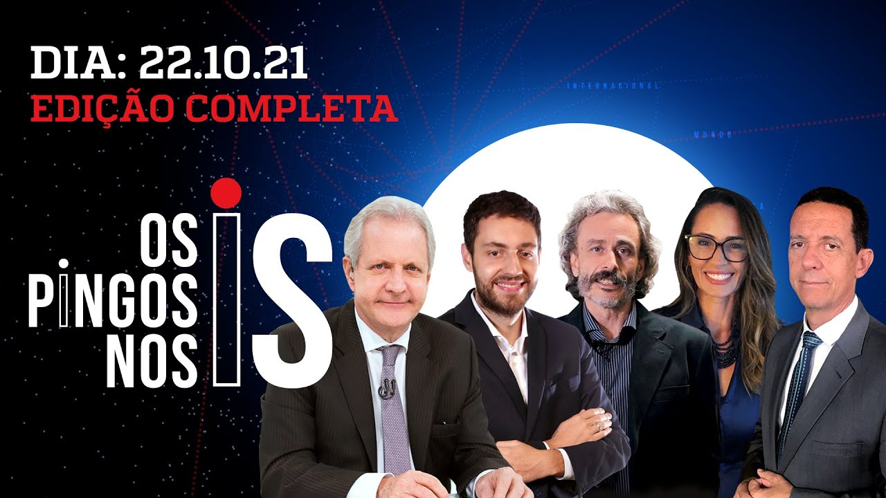 Download GUEDES FICA NO GOVERNO/ HUCK ECONOMISTA/ MORO E PACHECO CANDIDATOS - Os Pingos Nos Is - 22/10/2021