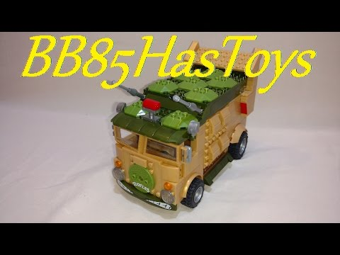 Teenage Mutant Ninja Turtles Classic Party Wagon From Mega Bloks