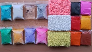 Making Slime with Bags, Floam Bricks and Clay