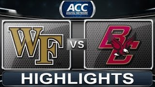 2013 ACC Football Highlights | Wake Forest vs Boston College | ACCDigitalNetwork