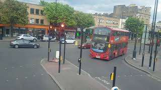 London by bus. Route no. 4. From Archway to Highbury Corner.