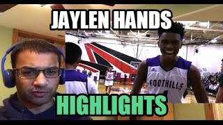 THE NEXT RUSSELL WESTBROOK! Jaylen Hands- SENIOR YEAR MIXTAPE (Reaction)