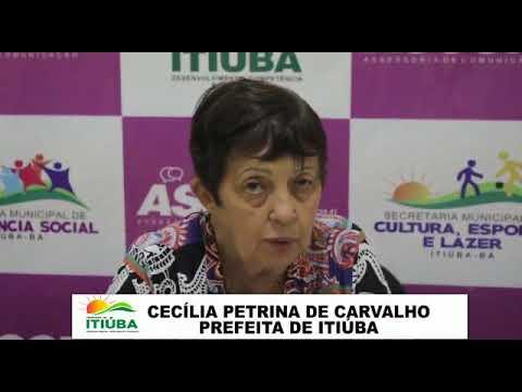 ITIÚBA: PREFEITA CECÍLIA REVISA DECRETO DE ENFRENTAMENTO DO COVID-19