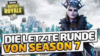 Die letzte Runde von Season 7 - ♠ Fortnite Battle Royale ♠ - Deutsch German - Dhalucard