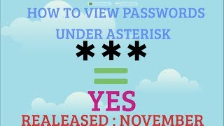 ✓ How to View Passwords Hidden Under Asterisks