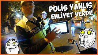 TRAFİK POLİSİ BAŞKASININ EHLİYETİNİ VERDİ SONRA BENİ ARADI GERİ DÖNDÜM   MotoVlog #51