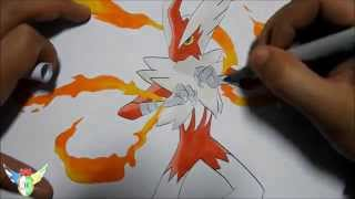Copic speed draw Mega Blaziken メガバシャーモ