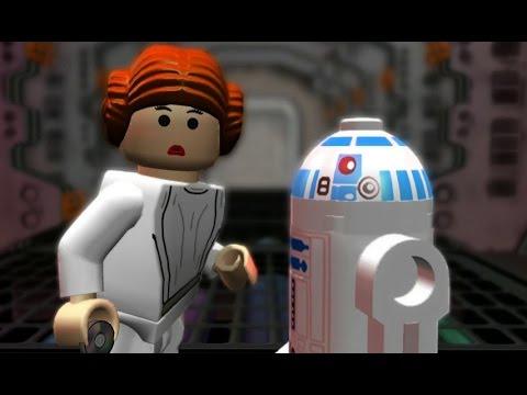 LEGO Star Wars: The Complete Saga Walkthrough Part 14 - Secret Plans (Episode IV)