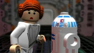 LEGO Star Wars: The Complete Saga Walkthrough Part 14 - Secret Plans (Episode IV)