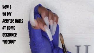 How I Do My Acrylic Nails At Home - Beginner Friendly