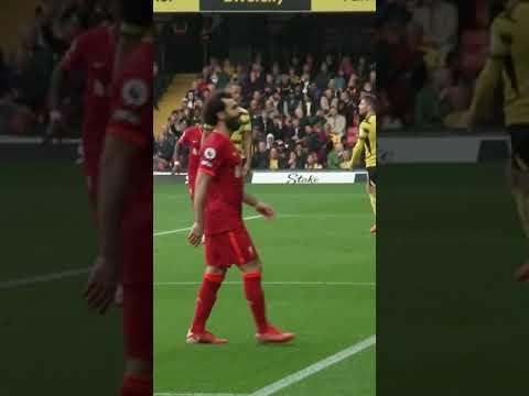 👑 Liverpool's away end reacts to Mo Salah's goal at Watford.
