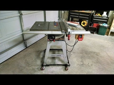 Craftsman 315.228390 table saw for sale (Craigslist ad)