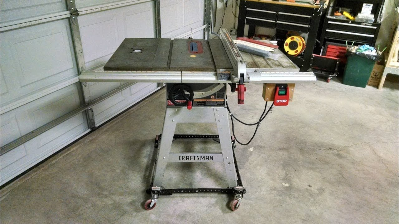 Craftsman Table Saw For Sale Craigslist Ad Youtube