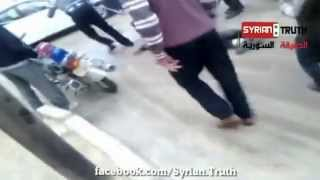 Tortured person group of Bashar al-Assad at the hands of the army free