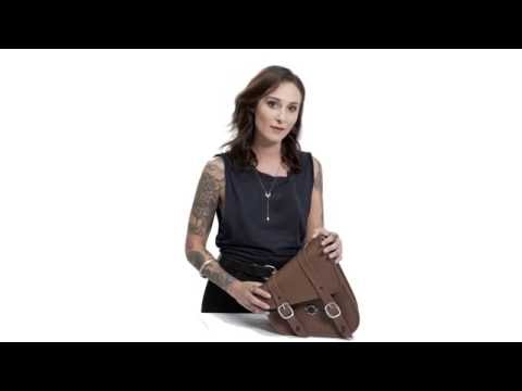 Sportster Specific Brown Swing Arm Bag Review - vikingbags.com