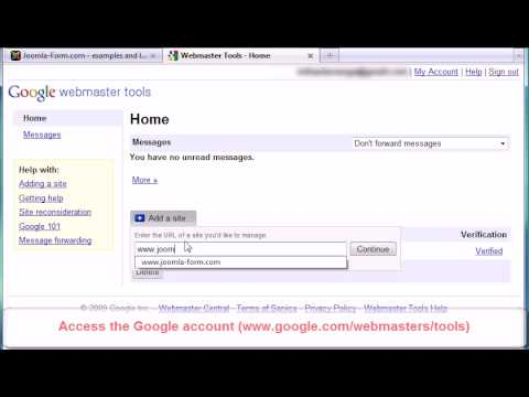 Download Joomla! sitemap verification for Google with RSSeo!