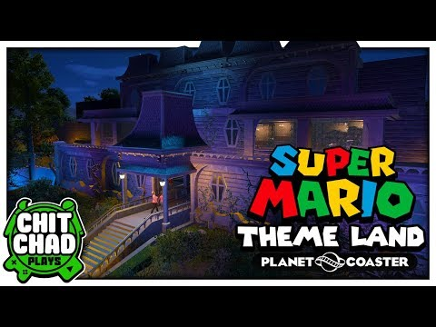 Spiders in the Mansion!   Super Mario Theme Park - Planet Coaster