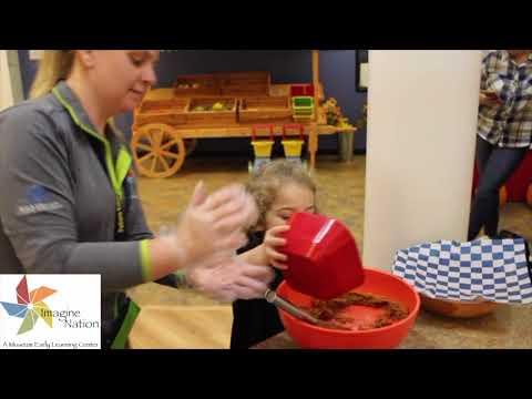 Preschool in Bristol, CT: Making Pumpkin Energy Bites