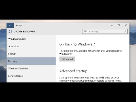 downgrade from windows 10 to any version (without loss data) easiest way