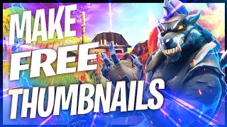 HOW TO MAKE A AWESOME FORTNITE THUMBNAIL FOR FREE WITH PIXLR.COM