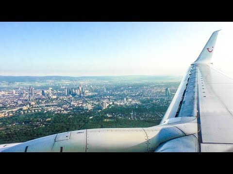 Approach & Landing at Frankfurt Airport - TUIfly Boeing 737-800