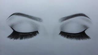 كيف أرسم العينين ( كيف أرسم عينين مغمضتين )