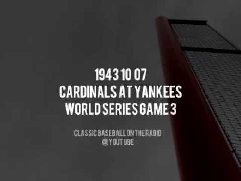 1943 10 07 Cardinals at Yankees World Series Game 3 OTR