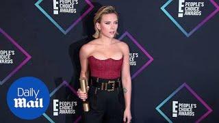 Scarlett Johansson with her People's Choice Best Movie Star Award