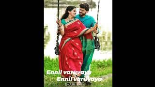 Ennil varuvaya ennil varuvaya 🥰🎶 what's app status 🎶 for Lovely song ♥️